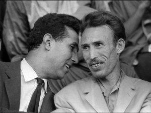 Benbella e Boumedienne, prima del colpo di stato del 1965