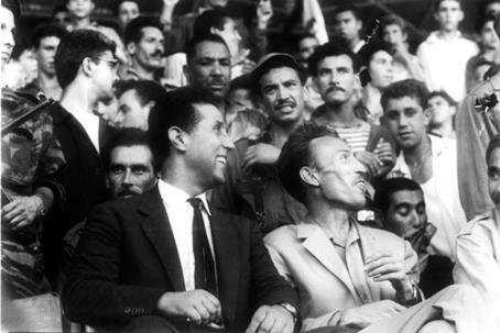 Ahmed Benbella e Houari Boumedienne prima del colpo di stato del 1965