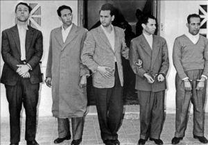 L'arresto dei 4 leader del Fln ad Algeri nel 1956